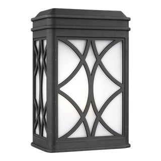Audrey Small One Light Outdoor Wall Lantern, Black For Sale