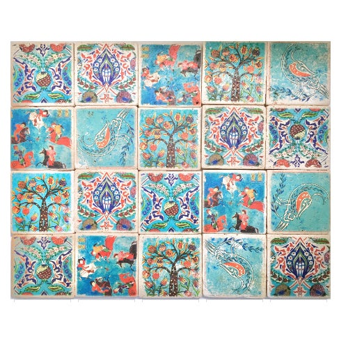 Mid 20th Century Stone Turkish Tiles - Set of 20 For Sale - Image 5 of 5