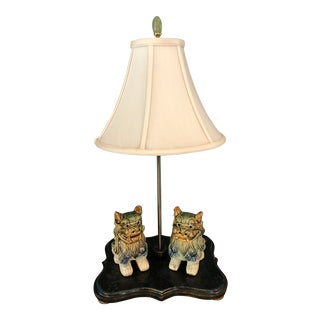 Foo Dog Table Lamp For Sale