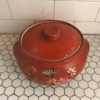 Vintage Hand Painted Tortilla Warmer Stoneware Jar Preview