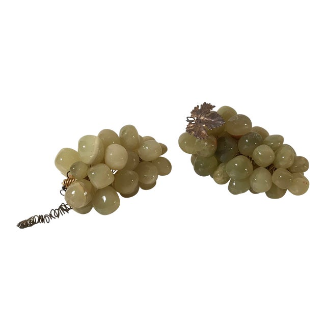 20th Century Cottage Marble Grape Bunches - a Pair For Sale