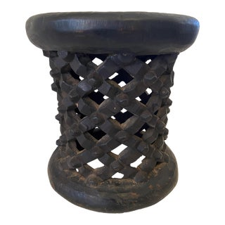 1970s Old African Bamileke Spider Stool/Table For Sale