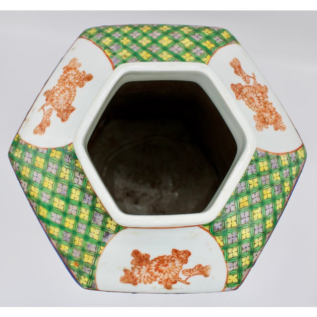 Ceramic Large Antique Chinese Enamel Ceramic Vase For Sale - Image 7 of 13