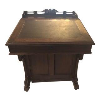 Antique Victorian Walnut Davenport Desk For Sale