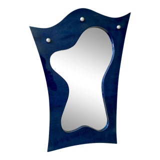 Vintage Postmodern Freeform Lacquered Mirror, Circa 1990s For Sale