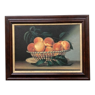 Mario Buatta Peach Still Life Oil Painting Print For Sale