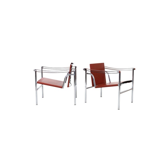 Mid-Century Modern Pair of Le Corbusier LC1 Lounge Chairs for Cassina For Sale - Image 3 of 12