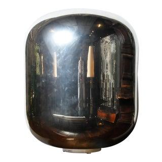 Italian Murano Silver Dome Floor Lamp For Sale