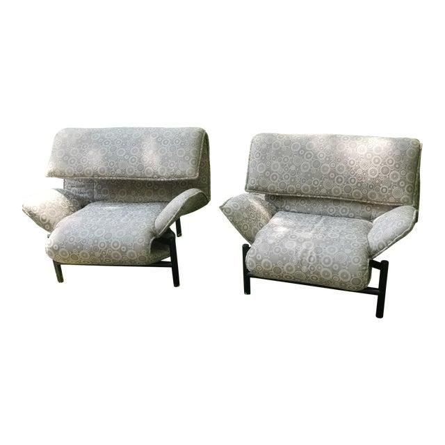 1980's Giovanni Offredi Onda Recliner Saporiti Lounge Chairs For Sale