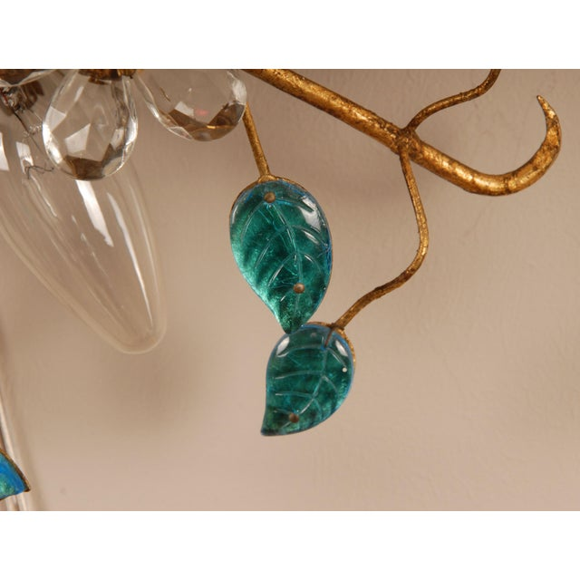1970s 1970s Mid-Century Italian Murano Glass Sunburst Sconces, Venice - a Pair For Sale - Image 5 of 11