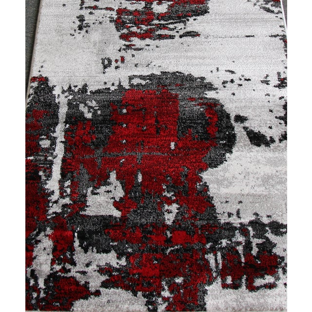 Abstract Red Rug - 3′ × 10′ - Image 4 of 4
