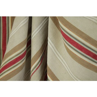 Antique French Ticking Fabric Napoleon Iii c1860 Striped Damask Sewing Upholstery Pillows Projects Quilting For Sale