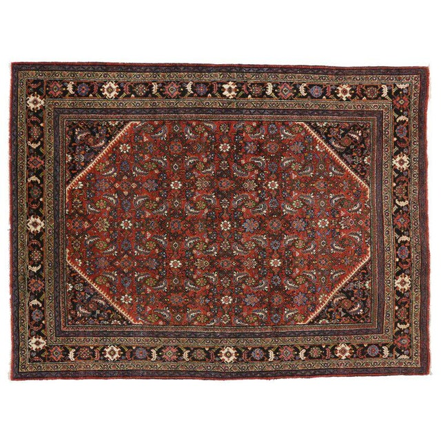 Antique Persian Mahal Rug with Traditional Style For Sale - Image 4 of 6