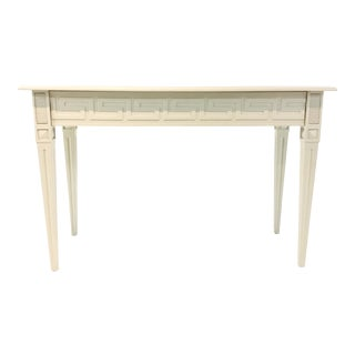Ave Home Modern White Athena Greek Key Console Table For Sale