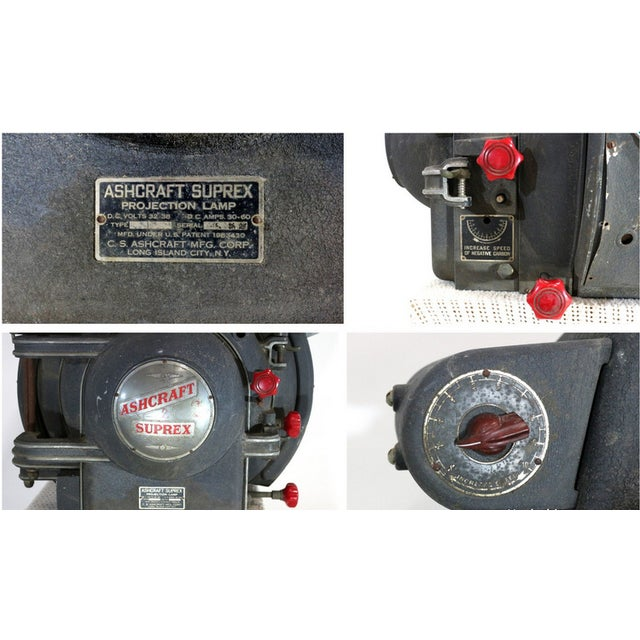 Ashcraft 1930s Movie Theatre Projector Light For Sale - Image 5 of 6