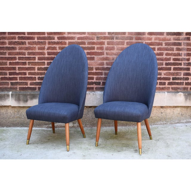 Mid Century Modern Slipper Chairs - a Pair For Sale - Image 10 of 10