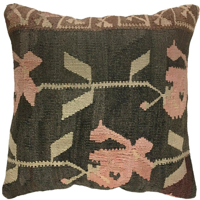 """Shabby Chic Rustic Rose Kilim Pillow 