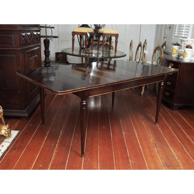 Maison Jansen Mahogany Dining Table For Sale - Image 10 of 10