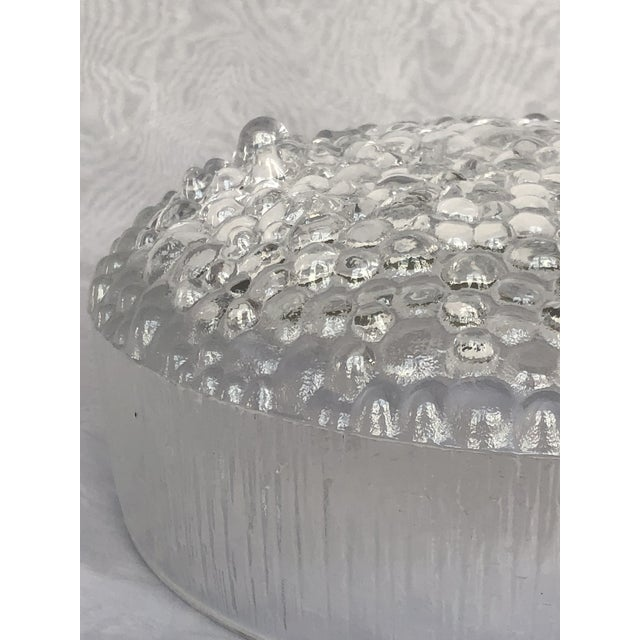 1970s Finnish Crystal Modern Art Glass Bowl For Sale - Image 10 of 13