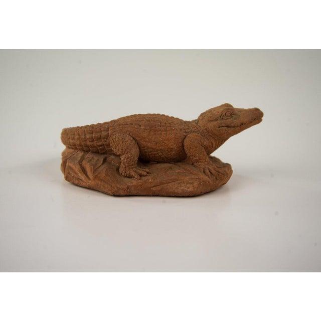 Frostino Gianelli Plaster Crocodile Sculpture For Sale - Image 4 of 6