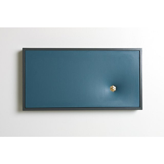 Paint Topher Gent Blue Contemporary Painting Wall Sculpture C. 2019 For Sale - Image 7 of 7