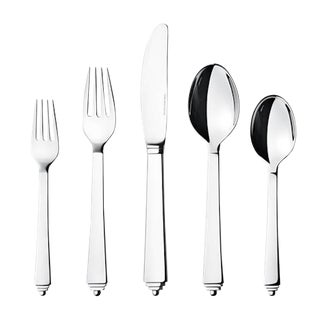 Pyramid by Georg Jensen Stainless Steel Flatware Set for 12 Service 60 Pcs New For Sale