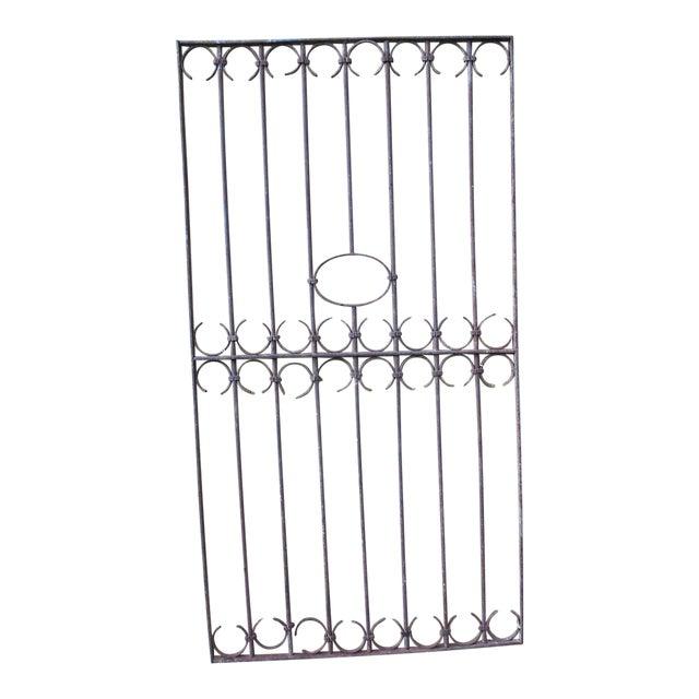 Antique Victorian Iron Gate Window Garden Fence Architectural Salvage Door For Sale