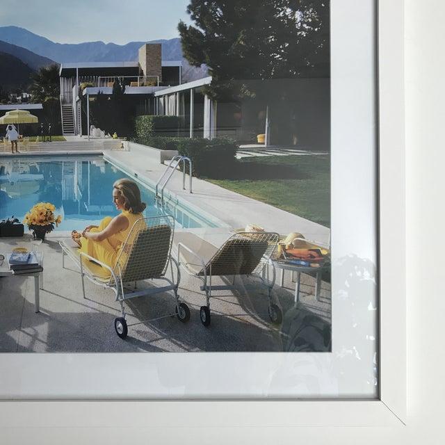 Framed Slim Aarons Poolside Gossip Print For Sale - Image 5 of 6
