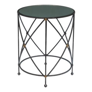 Drum & Fife Lamp Table W/Mirror Glass Tp For Sale