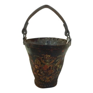 Leather Fire Bucket For Sale