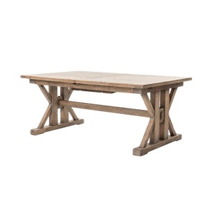 Modern Farmhouse Extendable Dining Table For Sale