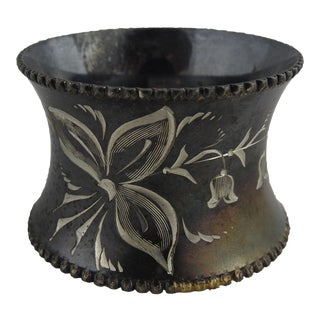 Antique Silverplate Napkin Ring For Sale