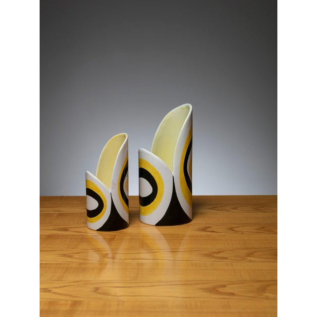 Italian 60s ceramic vases manufactured by Zanolli and Sebellin. Size refers to the biggest piece.