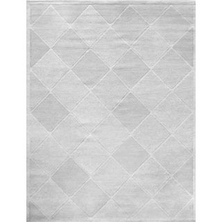 Mansour Modern Swedish Inspired Hand-Woven Wool Rug For Sale