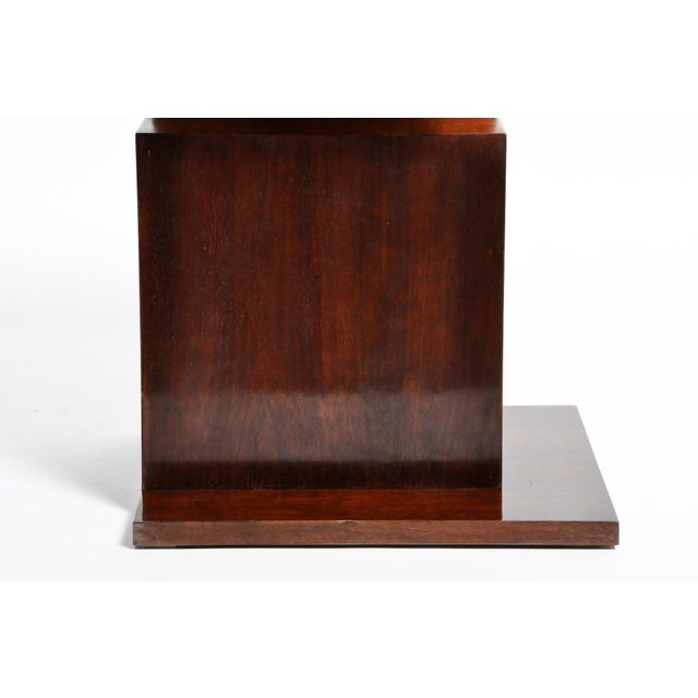 Hungarian Walnut and Maple Veneer Side Table With Shelves For Sale - Image 12 of 13