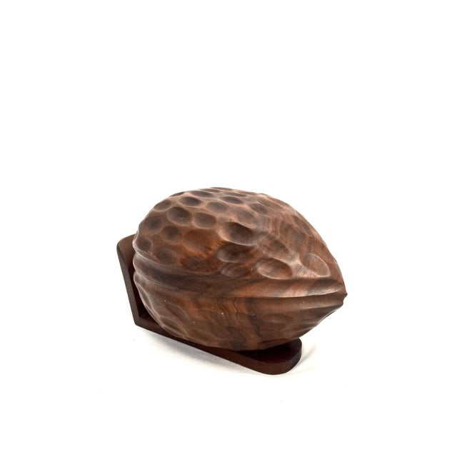 Hand-Carved Hinged Walnut Bowl - Image 3 of 6
