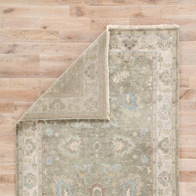 Jaipur Living Geneva Hand-Knotted Floral Green & Ivory Area Rug - 2′ × 3′ For Sale - Image 4 of 6