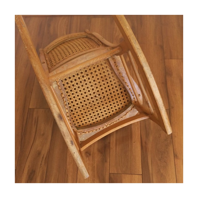 Childs Rocking Chair With Caned Back - Image 5 of 6
