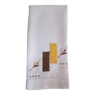Mid Century Modern Linen Hand Towel For Sale
