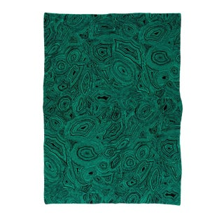 "Malachite Cashmere Blanket, Green, 51"" x 71"" For Sale"