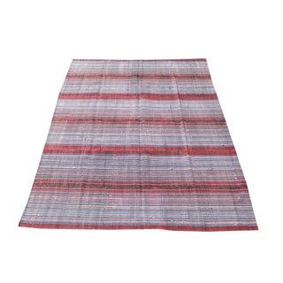 Striped Multi Color Persian Kilim Rug - 8′ × 10′7″ For Sale