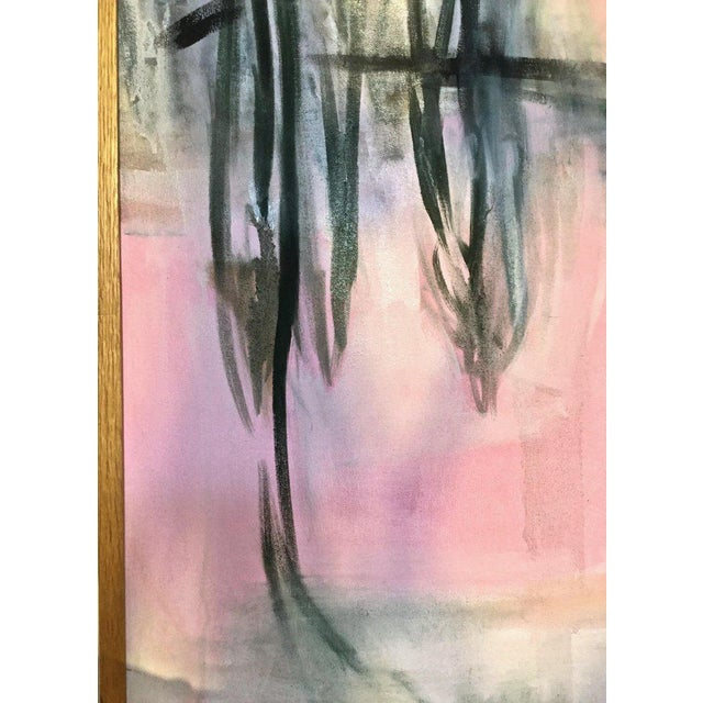 Large Scale Abstract Painting, Custom Wood Frame For Sale In New York - Image 6 of 12