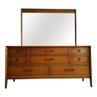 Drexel Meridian Triple Dresser & Mirror For Sale