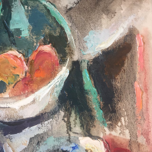 Vintage Modernist Abstract Still Life Painting For Sale - Image 5 of 7
