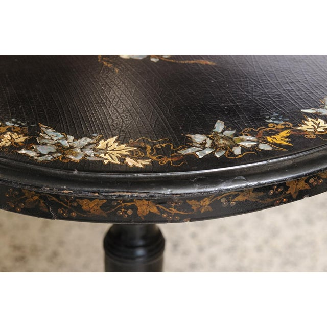 Inlaid side table For Sale - Image 4 of 7