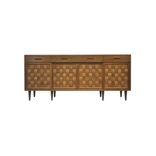 Dunbar Woven Front Credenza by Edward Wormley For Sale