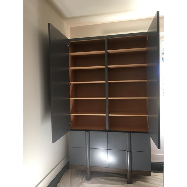 Vintage Modern Black Lacquered Armoire - Image 6 of 7