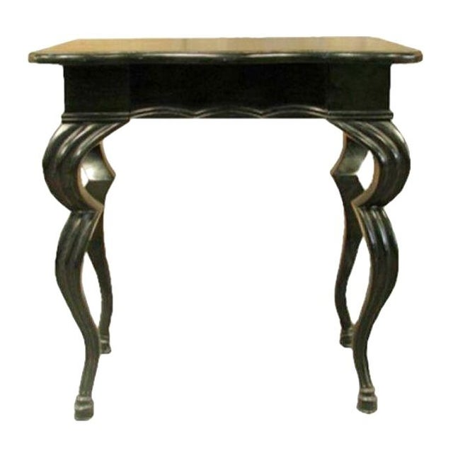 Square Noir Side Table with Hoof Legs - Image 1 of 1