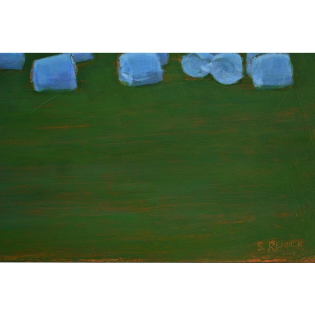 "Paint ""Baled Hay at Dusk"" Painting by Stephen Remick For Sale - Image 7 of 11"