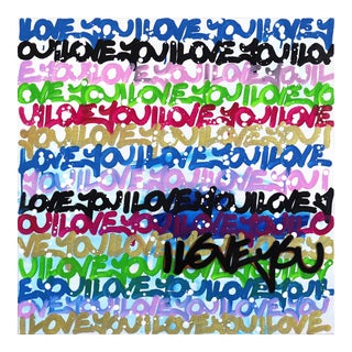 """Unique Colorful Artwork by Amber Goldhammer """"Love Is the Law"""" For Sale"""